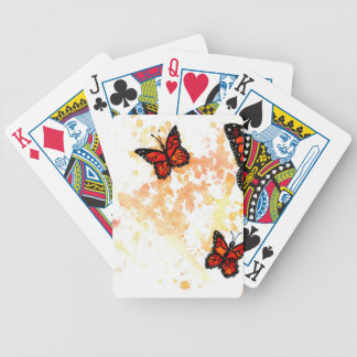 Monarch Butterfly Art Bicycle Playing Cards