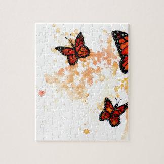 Monarch Butterfly Art Jigsaw Puzzle