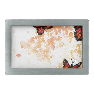 Monarch Butterfly Art Rectangular Belt Buckle