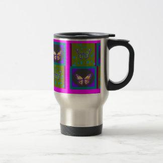 Monarch Butterfly Avocado-Purple Gifts by Sharles Travel Mug