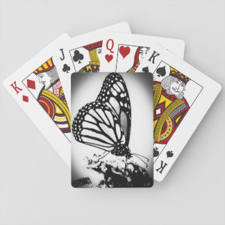 Monarch Butterfly, Black and White Poker Deck