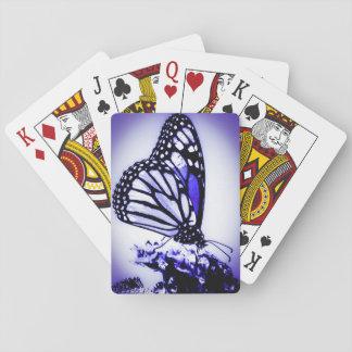 Monarch Butterfly, Blue Poker Deck