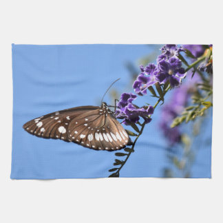 MONARCH BUTTERFLY BROWN ON FLOWER RURAL  AUSTRALIA HAND TOWELS