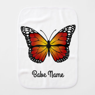 Monarch Butterfly Burp Cloth