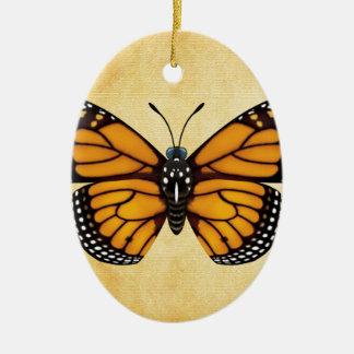 Monarch Butterfly Ceramic Ornament