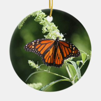 Monarch butterfly ceramic ornament