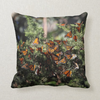 Monarch Butterfly Cluster Throw Pillow