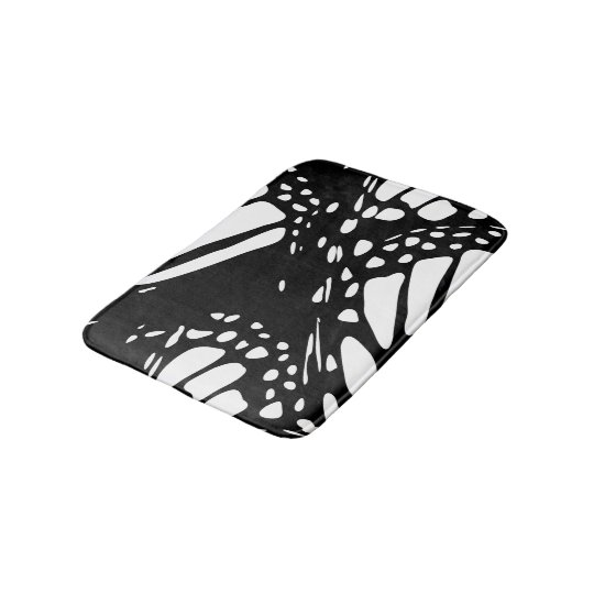 Monarch Butterfly Design Bathroom Mat