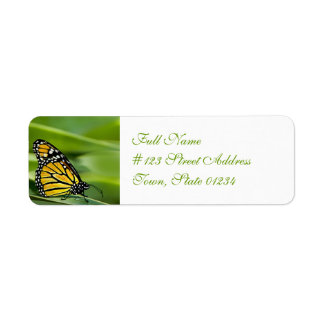 Monarch Butterfly Design Mailing Labels