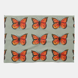 Monarch Butterfly Design on Kitchen Towel