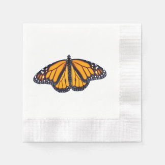 Monarch butterfly disposable napkins