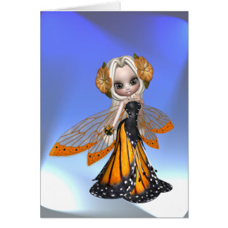 Monarch Butterfly Fairy Card