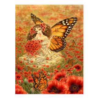 Monarch Butterfly Fairy Postcard
