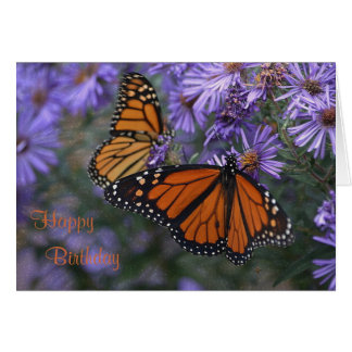 Monarch Butterfly Happy Birthday Card