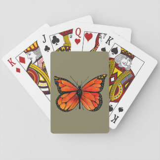 Monarch Butterfly Illustration on Playing Cards