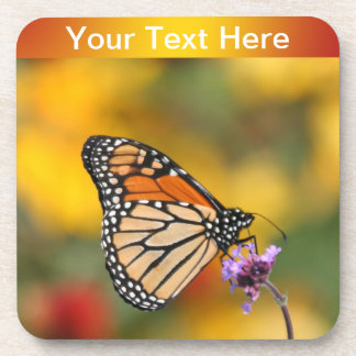 Monarch Butterfly In Search of Pollen Drink Coasters