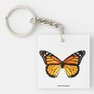 Monarch Butterfly Keychain Accessory