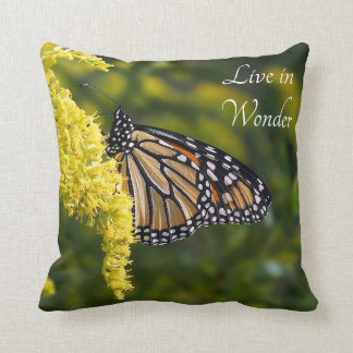 Monarch Butterfly Live in Wonder Throw Pillow