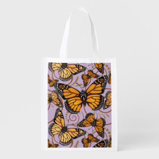 Monarch Butterfly Madness Reusable Grocery Bag