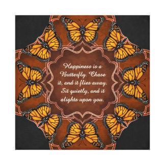 Monarch Butterfly Mandala Canvas Print
