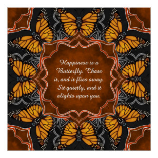 Monarch Butterfly Mandala Poster