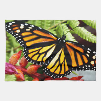 Monarch Butterfly on Fern Kitchen Towel