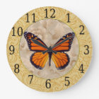 Monarch Butterfly On Floral Clock