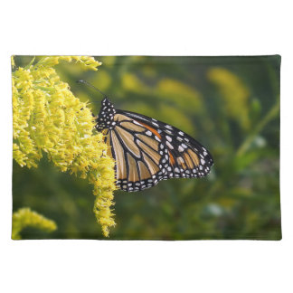 Monarch Butterfly on Goldenrod Cloth Placemat
