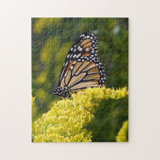 Monarch Butterfly on Goldenrod Flower Puzzle