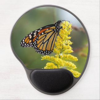 Monarch Butterfly on Goldenrod Gel Mousepad