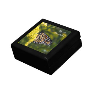 Monarch Butterfly on Goldenrod Keepsake Gift Box