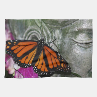 Monarch Butterfly on Kwan Yin Towels