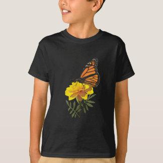Monarch Butterfly on Marigold Kids T-Shirt