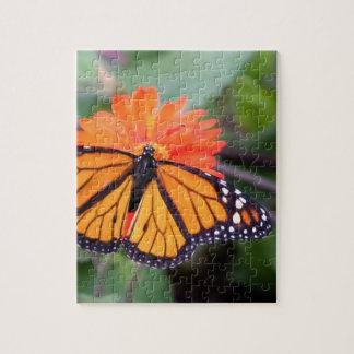Monarch butterfly on orange flower jigsaw puzzle