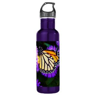 Monarch Butterfly on Purple Aster 710 Ml Water Bottle