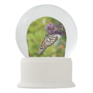 Monarch Butterfly on Purple Butterfly Bush Snow Globe