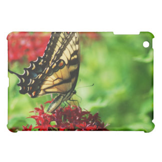 monarch butterfly on red flower iPad mini cover