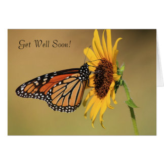 Monarch Butterfly on Yellow Sunflower Card