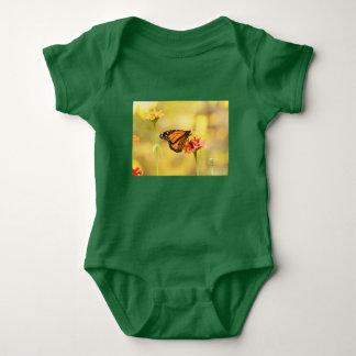 Monarch Butterfly on Zinnia Baby Bodysuit