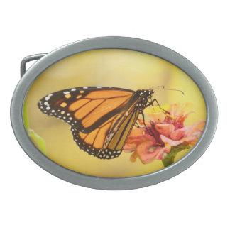Monarch Butterfly on Zinnia Belt Buckle