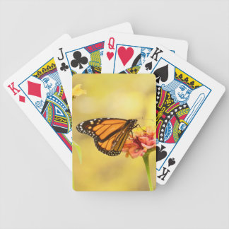 Monarch Butterfly on Zinnia Bicycle Playing Cards