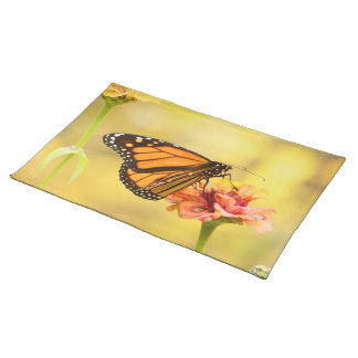 Monarch Butterfly on Zinnia Placemat