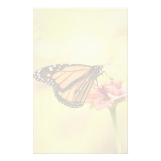 Monarch Butterfly on Zinnia Stationery