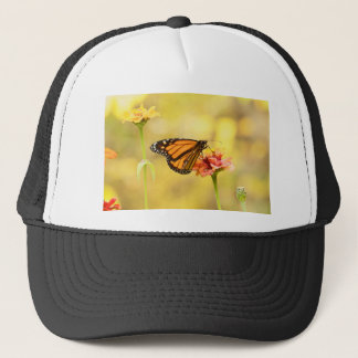 Monarch Butterfly on Zinnia Trucker Hat