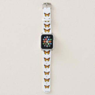 Monarch Butterfly Pattern Apple Watch Band