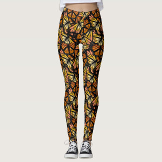 MONARCH BUTTERFLY PATTERN by Slipperywindow Leggings