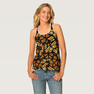 MONARCH BUTTERFLY PATTERN by Slipperywindow Tank Top