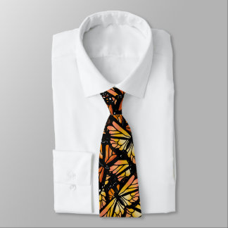 MONARCH BUTTERFLY PATTERN by Slipperywindow Tie
