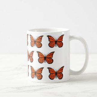 Monarch Butterfly Pattern on Classic Mug