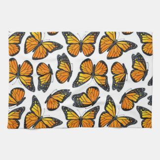 Monarch Butterfly Pattern Towel